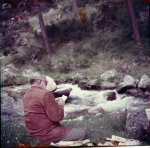 Hemingway at Pamplona, contemplating his passion
